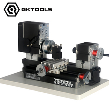 Powerful  Mini Metal Lathe Machine with 12000r/min, 60W  Motor and  Larger Processing Radius,DIY Tools as Chrildren's Gift.
