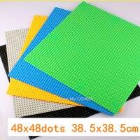 48 48 Dots Base Small Bricks 38 5cm Plate DIY Baseplate Building Blocks Accessories Sets Children