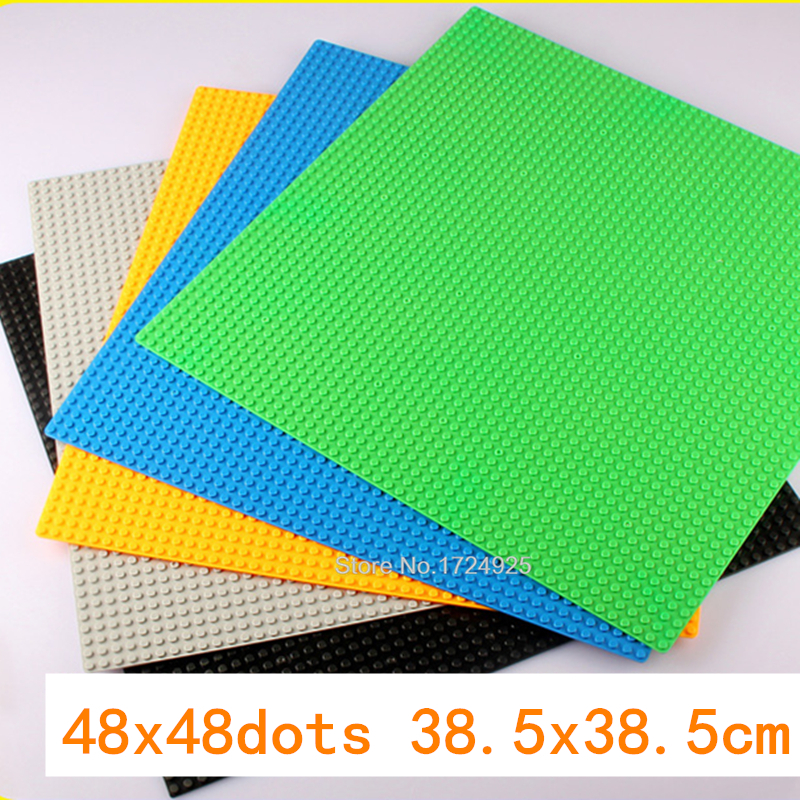 48*48 dots Base Small bricks 38.5cm Plate DIY Baseplate Building Blocks Accessories Sets Children Toys 2017 brand new fashion big size 40 40cm blocks diy baseplate with 50 50 dots small bricks base plate green grey blue