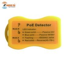 Pocket size PoE Detector PoE Tester Quickly Identify the type of PoE; LED Display indicates passivePoE /802.3af/at; 24v/48v/56v