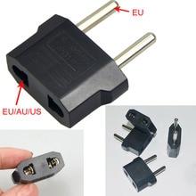 1 шт., универсальная вилка США в ЕС, США в Европу, для путешествий, настенное зарядное устройство, розетка, адаптер, конвертер, 2 круглых разъема, входной контакт