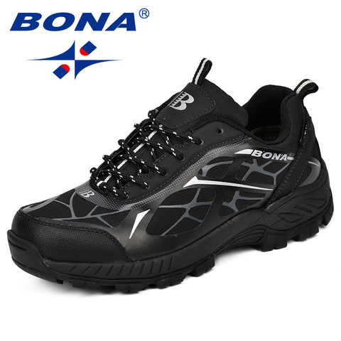 BONA Outdoor Sports Camping Shoes Men Tactical Hiking Shoes For Summer Breathable Waterproof Coating Men Athletic Shoes Karachi