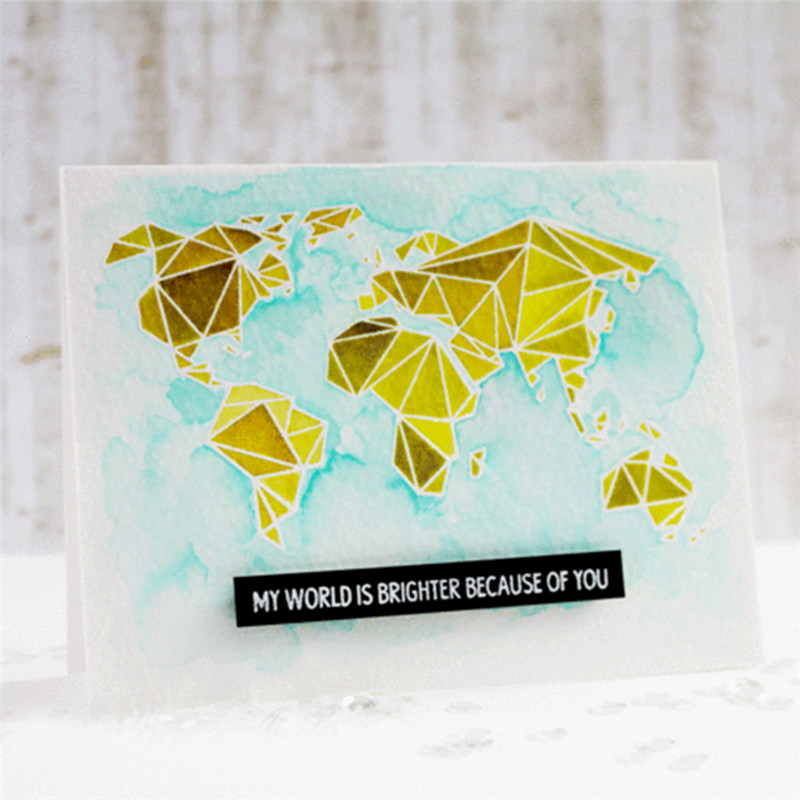 US $1 53 30% OFF|YaMinSanNiO Map Dies Scrapbooking Metal Cutting Die New  2019 World Map Stamps and Dies Clear Stamp Crafts Dies Cuts Card Making-in