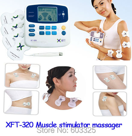 XFT-320 LCD DUAL Tens Device Therapy Machine Digital Body Massager Acupuncture Cupping Medical Treatment Muscle Stimulator prostatitis treatment device prostate physical therapy equipment perineum muscle stimulator
