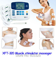 Xft-lcdデュアルtens装置治療機デジタルボディマッサージ鍼カッピング医療治療筋肉刺