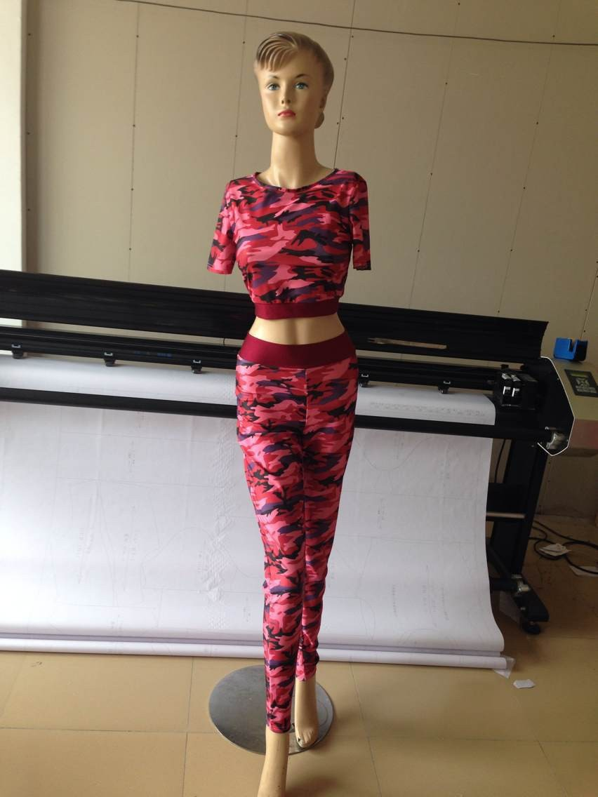 93676d4e5d4cc new arrival Burgundy dark green camouflage printed 2 piece women  jumpsuits&rompers casual pants suit fashion sexy bandage dress on  Aliexpress.com | Alibaba ...