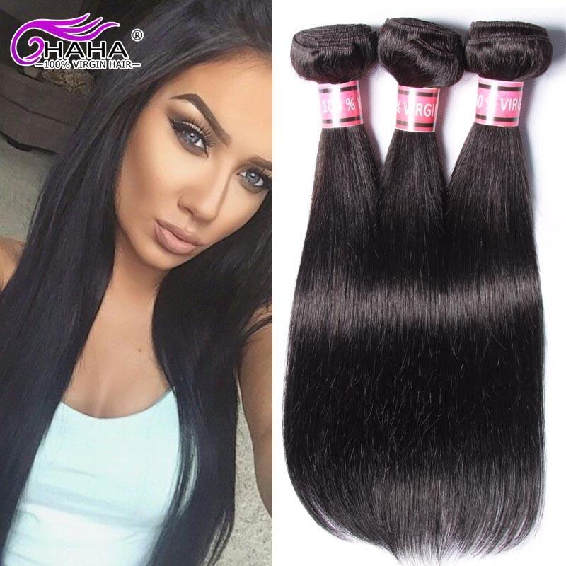 Peruvian Virgin Hair Straight 5 Bundles Unprocessed Asteria 7A grade