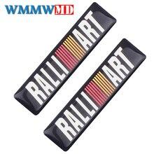 4Pcs Car decoration Sticker Decal Sports Ralliart Emblem For mitsubishi lancer asx outlander