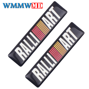 4 pçs decoração do carro adesivo decalque esportes ralliart emblema para mitsubishi lancer asx outlander pajero galant acessórios de automóvel