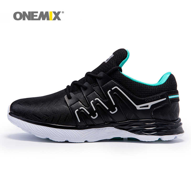 ONEMIX ชายรองเท้าผู้ชาย Trail Nice แนวโน้มรองเท้ากีฬาสีดำสีขาว Breathable กีฬารองเท้ารองเท้าผ้าใบฟรีเรือ
