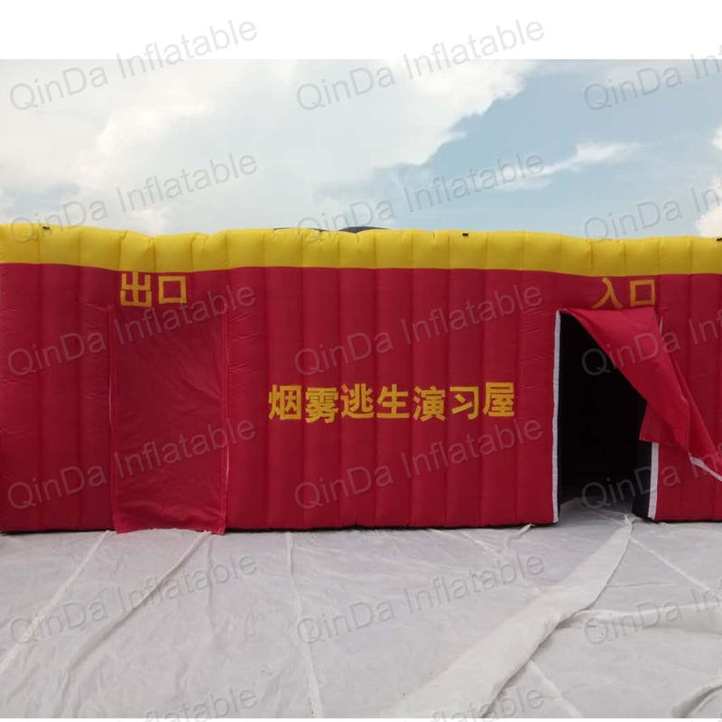 Children fire education tunnel imitation room inflatable fire tent , simulated smoke room escape tent серова м коварство дамы треф