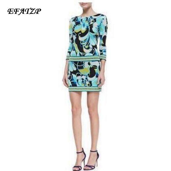 New 2014 Italian Designer Luxury Brands Women s 3 4 Sleeves Green Abstract Print XXL Stretch