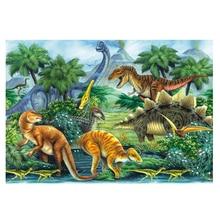 DIY diamond painting animal dinosaur group full dimaond embroidery kits mosaic wall decor