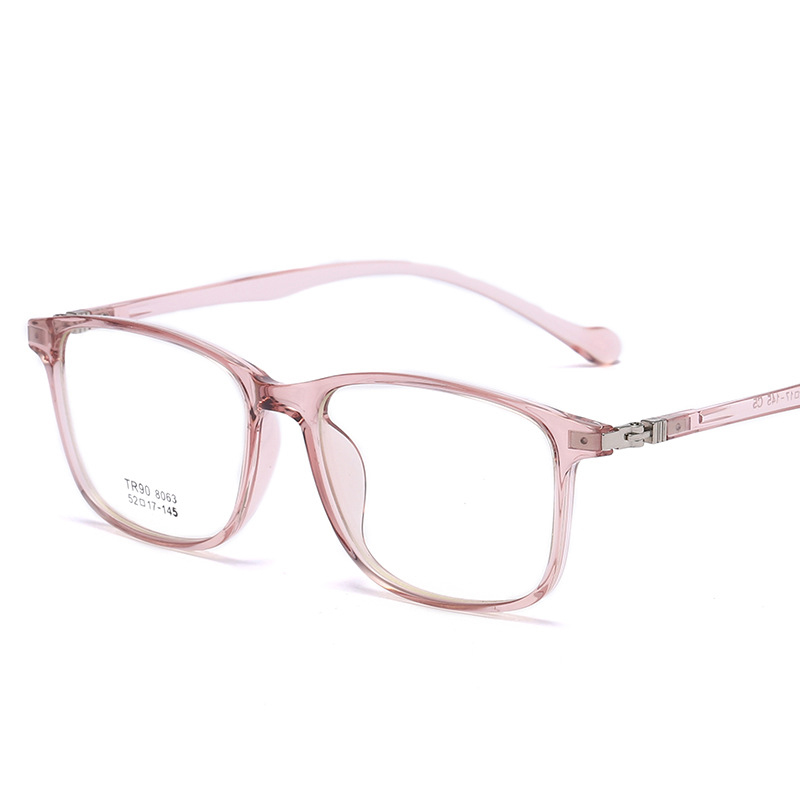 TR90 Glass Frame Student Glass Frame Retro Square Glass Flat Light Can Be Matched with Myopic Glass Net Red Frame