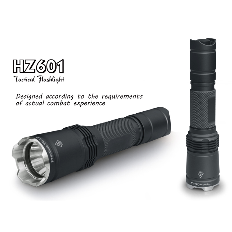 LED tactical flashlight torch flashlight self-defense rechargeable CREE XML L2 powerful lantern flashlights18650 battery hunting