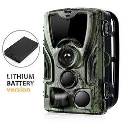 Cámara de caza de rastro con batería de litio de 5000Mah 16MP HC801 1080P IP65 a prueba de agua trampa de fotos 0,3 s vigilancia salvaje