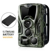 Trail Hunting Camera With 5000Mah Lithium Battery 16MP HC801 1080P IP65 Waterproof Photo Traps 0.3s Wild Surveillance