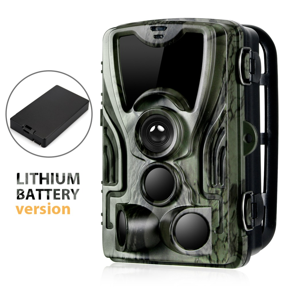 Trail Hunting Camera With 5000Mah Lithium Battery 16MP  HC80ALI 1080P IP65 Waterproof Photo Traps 0.3s  Wild Surveillance