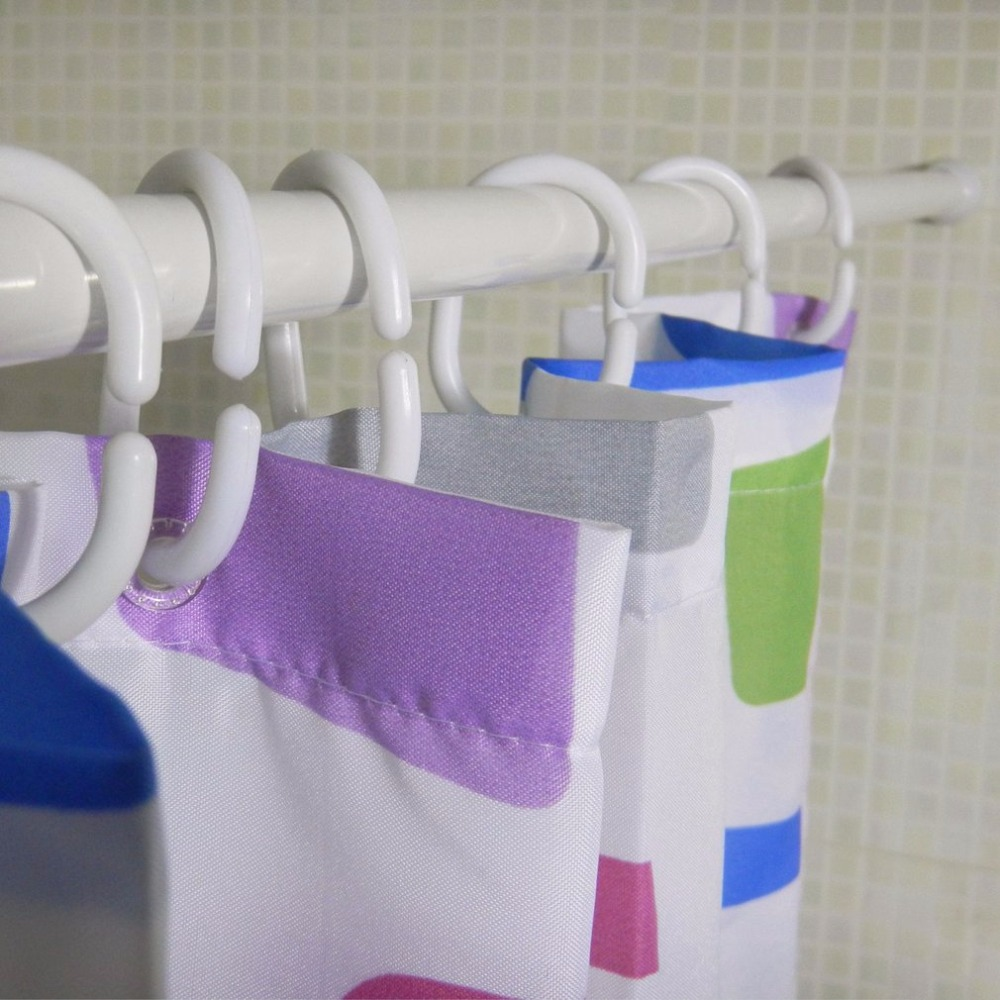 Aluminium Alloy Retractable Shower Curtain Rod Straight Bathroom Jackstay Window Curtain Rod Clothes Drying Rod
