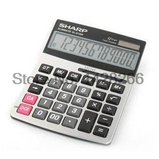 Genuine original SHARP EL G1200 office business desktop calculator Large metal