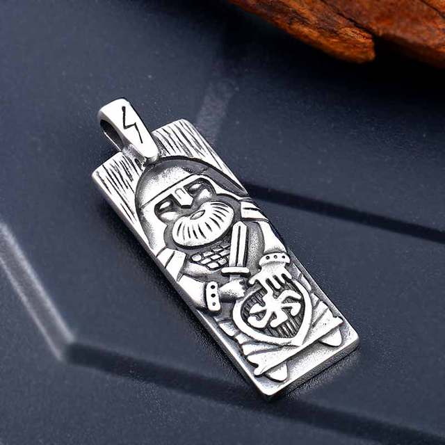 316L stainles steel Legendary The Vikings Odin/'s Amulet Pendant Necklace Viking