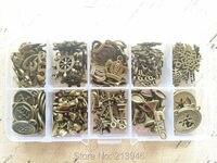 (Małe czary) 10 130/set mix style vintage bronze biżuteria koraliki zawieszki charms ustalenia i akcesoria