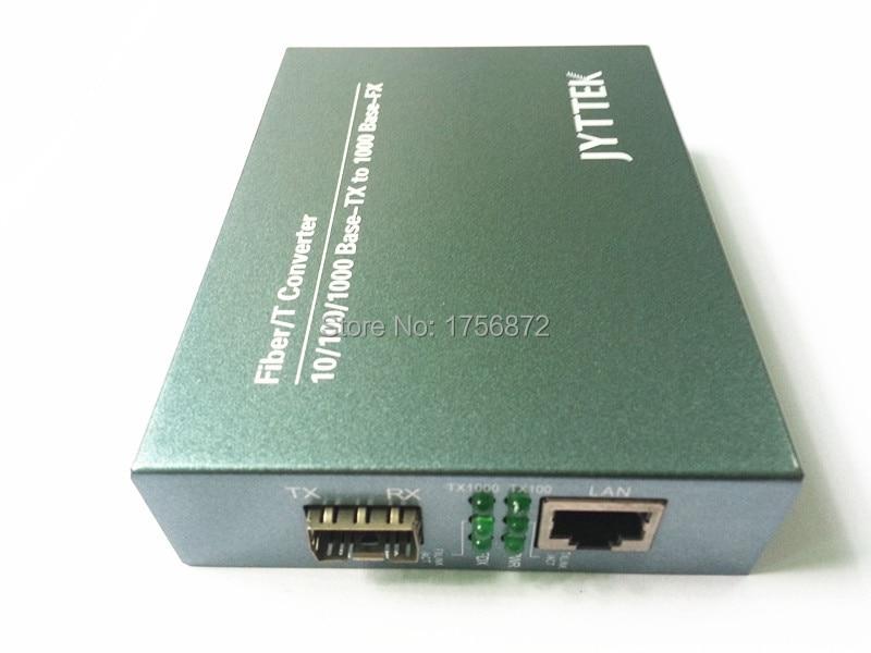 10/100 / 1000M SFP Fiber Media Converter Външен PSU 1 Fiber и - Комуникационно оборудване - Снимка 2