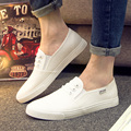 2016 NEW Spring Autumn men's casual shoe canvas shoe breathable flat with elastic-band #huanyue A512