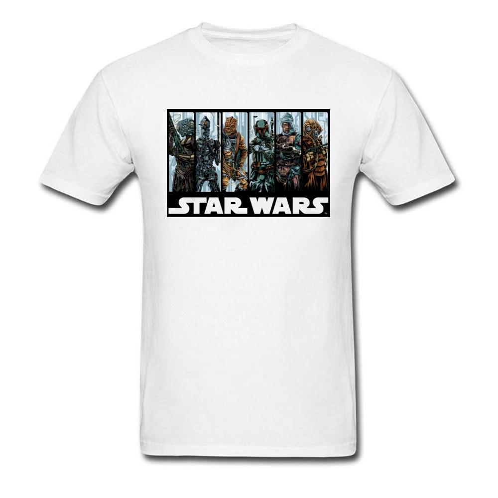 Galactic Bounty Hunter Guild 2018 White T-shirt Men T Shirt Star Wars Printed Tshirt Mens Summer Clothing Harajuku Tops