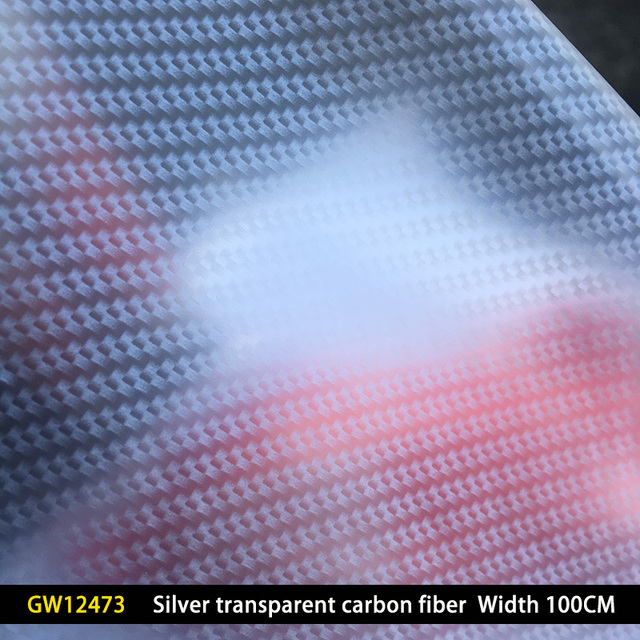 GW12473 WIDTH 100CM  Wholesale Transparent carbon fiber hydrographic film Hydro Dipping Film Water Transfer Printing Film