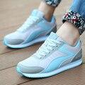 2016 Planos de La Manera de Las Mujeres Entrenadores Transpirable Deporte Mujer Zapatos Casuales Caminar Al Aire Libre Mujeres de Los Planos de Zapatillas Mujer