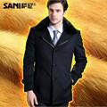Akrasanee masculino moda ocasional de lã outerwear casaco de cashmere casaco de vison revestimento de ouro nick casaco amassado trincheira Casacos De Lã