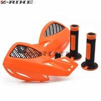 Protetor de vento da motocicleta lidar com protetor de mão ABShandguards Handlebar Rubber Gel Apertos de Mão Mãos de Freio para KTM todos modelo Aperto do Punho