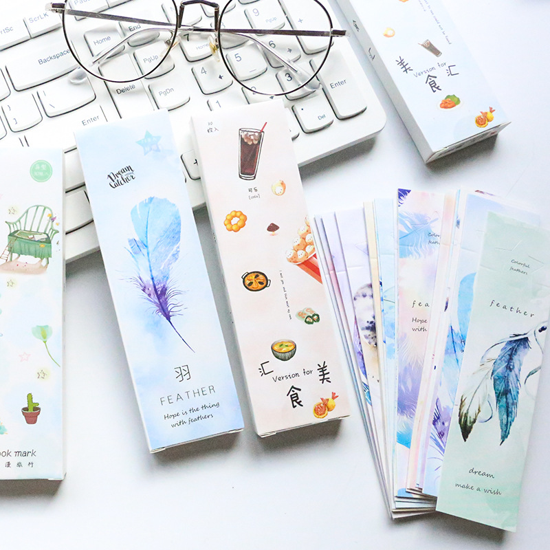 30pcs/pack Romantic Travel Bookmark Paper Bookmarkers Promotional Gift Stationery Free Bookmarks For Books Book Marks