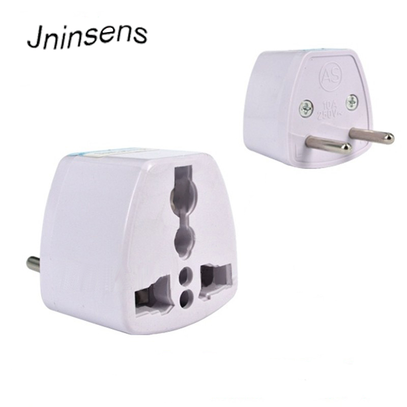 Universal AC Power 250V 10A AU UK US to EU Plug Adapter 2 Round Socket Conversion Adaptor Converter for Travel Home Use