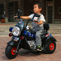 Children's Electric Dual drive motorcycle baby kids Inflatable tires tricycle Boys and girls toys Harley Moto can ride on