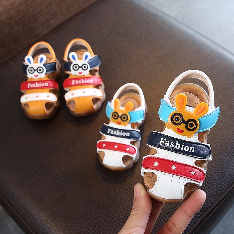 2018 Fashion Summer Kids Sandals For Boys Shoes Hook Loop Girls Sandals Rabbit Children Beach Shoes Roman Sandals Free shipping