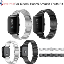 цена на 20mm Bracelet for Xiaomi Huami Amazfit Youth Smart Watch Metal Stainless Steel Strap Steel Belt Strap for Amazfit Bip Wrist Band