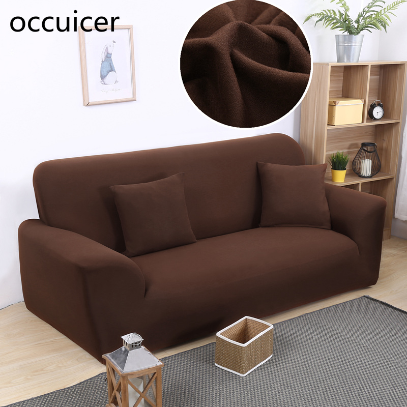 Pure Color Stretchy Slipcover Non-slip Chair Loveseat Sofa Cover High Elastic Cushion Sofa Case Anti-dust Sofa Protection Cover Софа