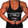 New Men's Superman Gyms Stringer Tank Tops Low Cut Armholes Vest Sexy Men's Tank Xman Muscle Man's Fitness Clothing
