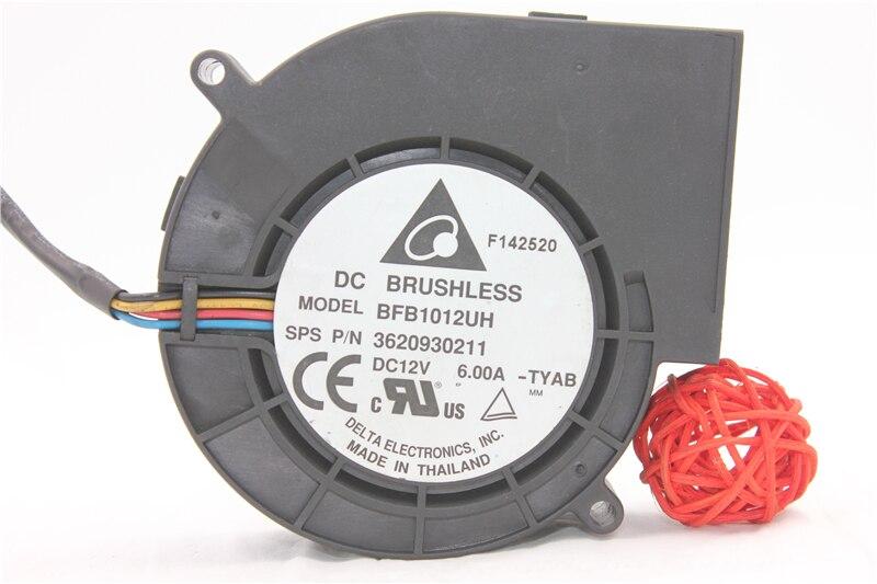 Original 9733 ultra-heftigen turbine abluftventilator 12 V 6A BFB1012UH vierleiter PWM drehzahlregelung