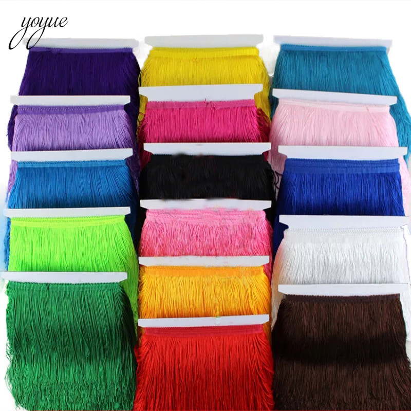 YOYUE 10 yards 15cm Long tassel fringe trim lace ribbon tassels for curtains dresses sewing fringed trimmings Diy accessories