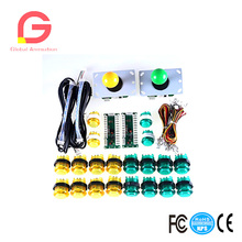 Arcade DIY Parts 2x Zero Delay USB Encoder + 8 Way Joystick 20x LED Push Buttons For Mame Jamma Project Kit Sets