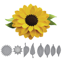 HamyHo создание фото скарпбукинг Декор поставки 3D Подсолнух и рамка для листьев металлические режущие штампы для поздравительная открытка «сделай сам» тиснение