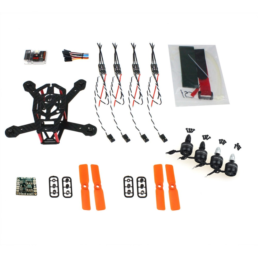 DIY Frame Kit QQ 150mm Mini RC Quadopter H150 Carbon Fiber 3100KV CW/CCW Motor BLHeli OPTO 16A ESC 3030 Props F16895-B rc plane 210 mm carbon fiber mini quadcopter frame f3 flight controller 2206 1900kv motor 4050 prop rc