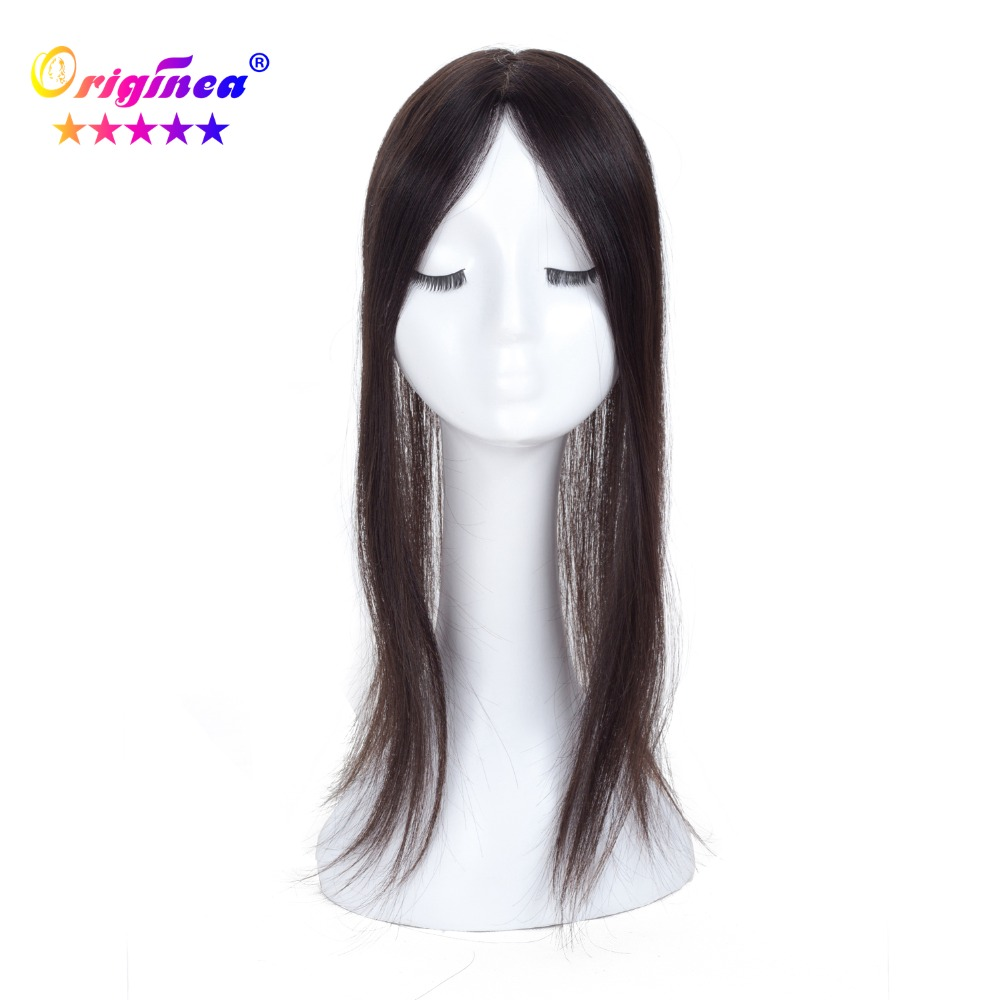 Originea Human Hair Toupee for Women Net Base Size 12*6 cm Hair Length 20 Inch 50 cm Toupee Replacement System Natural Color