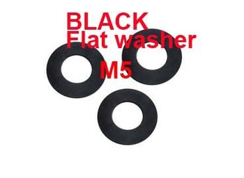 Wkooa M5 Flat  washer DIN125A grade 8.8 BLACK Carbon steel washer 2000 pieces