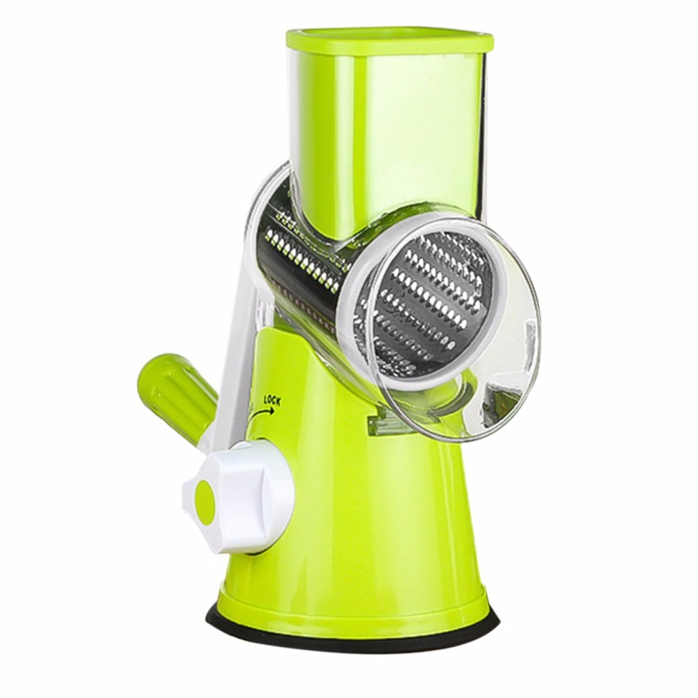 Multifunctional Stainless Vegetable Shredder Hand Rotary Grater Shred Potato Slicer Roller Shape Stainless Steel Crank Handle