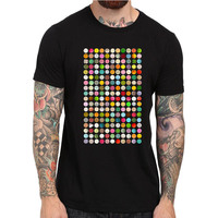 New Summer 80 S Rave Music T Shirt Ecstasy Pills XTC Cocaines Drugs Festival Tops Tee