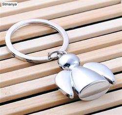 Metal Angel Keychain - Fashion Couple Car Key chain Bag waist Hanging Gospel Angel Key Ring lovers group For Best Jewelry 17014